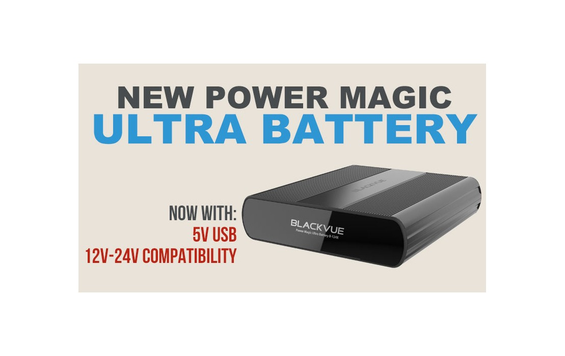 New BlackVue Power Magic Ultra Battery B-124X Adds 24V Compatibility, USB Power Outlet